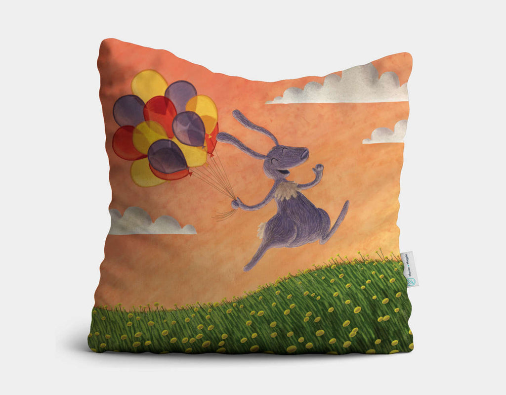 Meadow Hop Throw Pillow by Julia Collard - Main