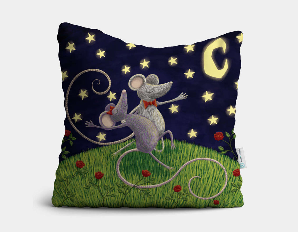 Tango by Moonlight Throw Pillow by Julia Collard - Main