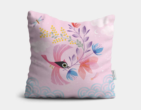 Mister Bird Throw Pillow by Marie-Rose Boisson - Main