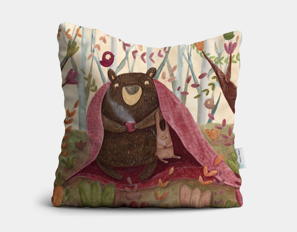 In the Middle of the Forest Throw Pillow by Aleksandra Szmidt - Main