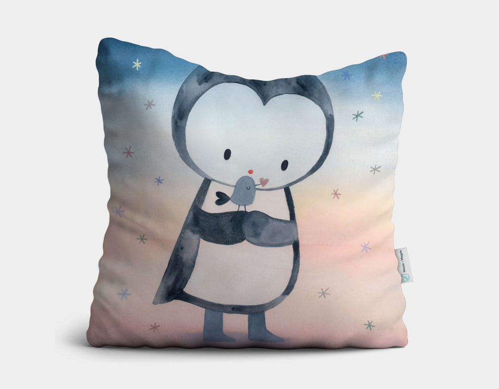 Snowflake Kisses Throw Pillow by Dubravka Kolanovic