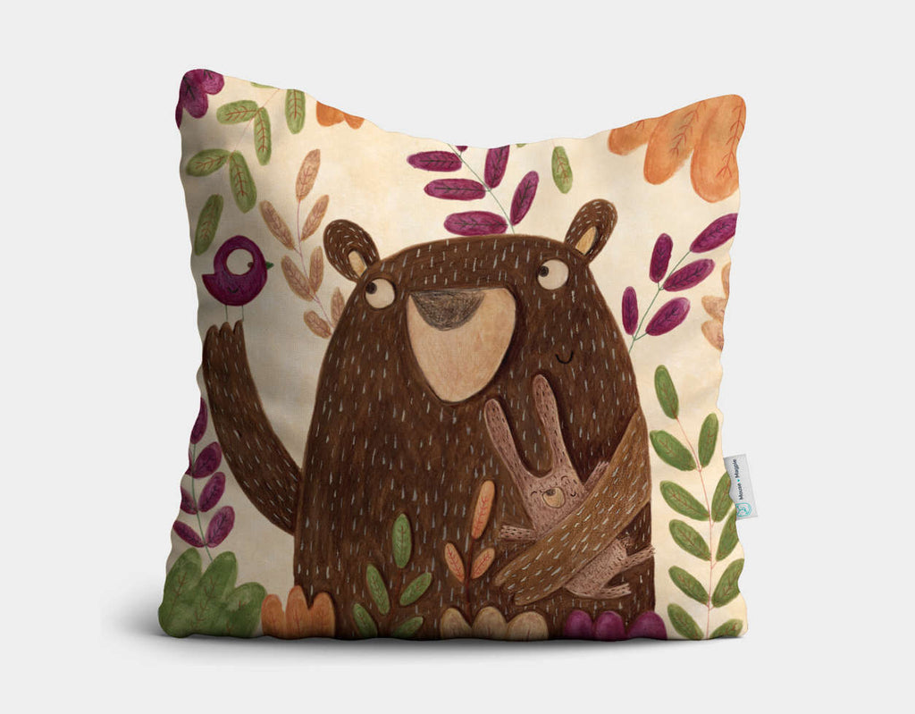 All Together Throw Pillow by Aleksandra Szmidt - Main
