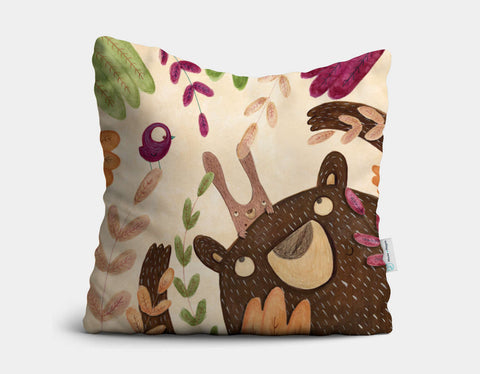 I'm Here Throw Pillow by Aleksandra Szmidt - Main