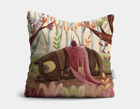 Time to Nap Throw Pillow by Aleksandra Szmidt - Main