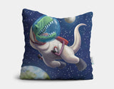 Spacewalk Rex Throw Pillow by Barry Gott - Main