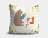 Summer Storytime Throw Pillow by Emma Talbot - Main