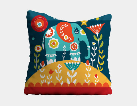 Nelly the Elly Throw Pillow by Shirley Copperwhite - Main