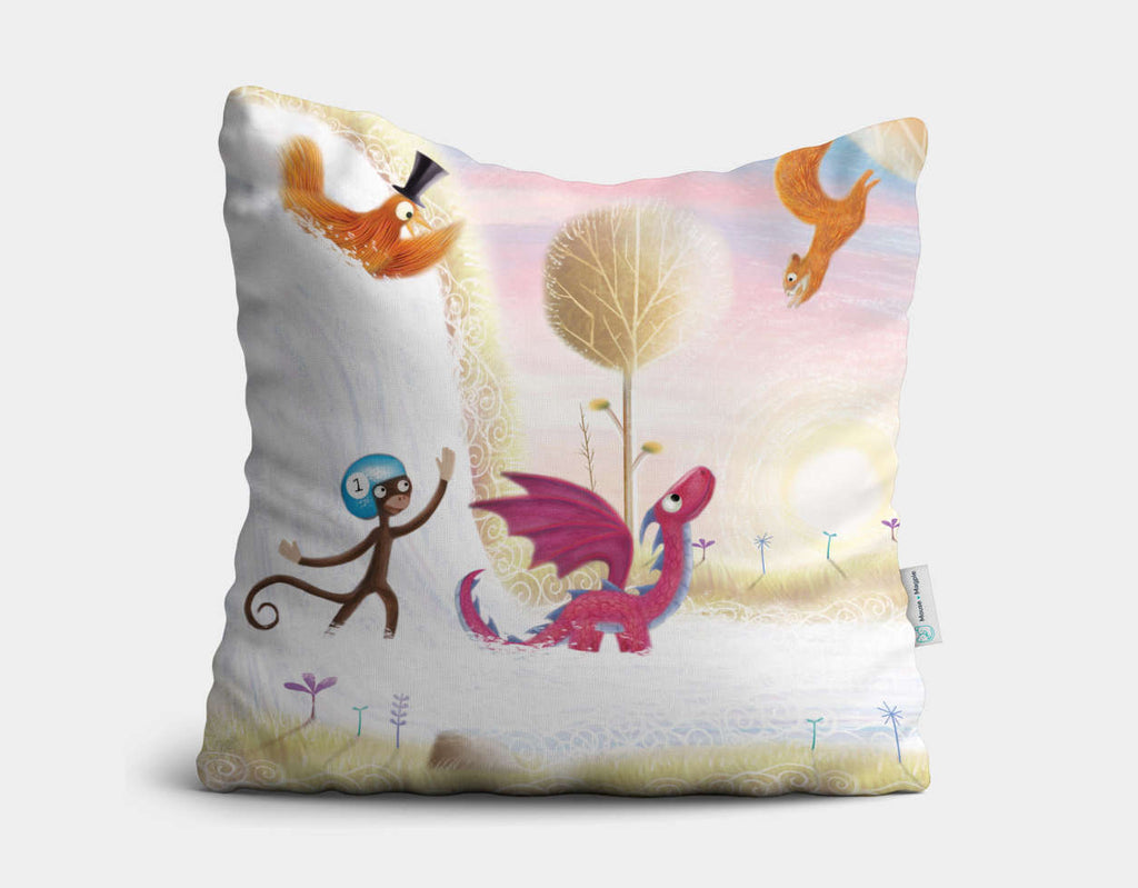 Waterfall Wonder Throw Pillow by Patrick S Brooks - Main