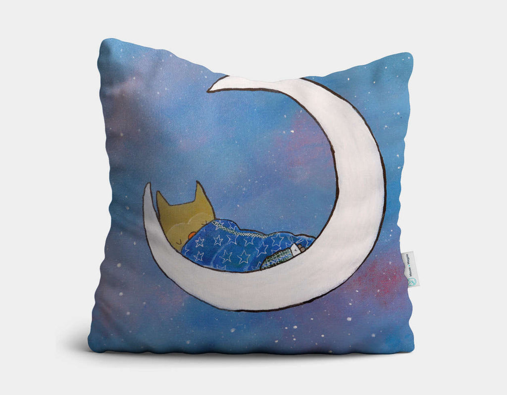 Goodnight, Owl Throw Pillow by Andrea Doss - Main