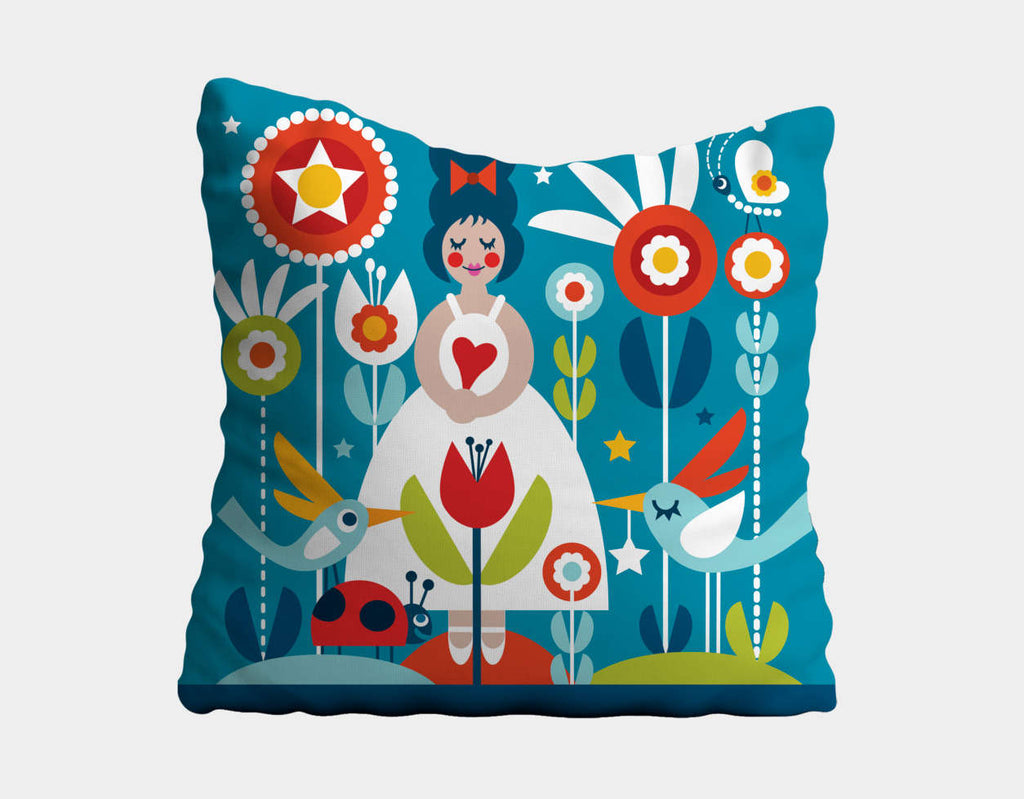 Daydreams Throw Pillow by Shirley Copperwhite - Main