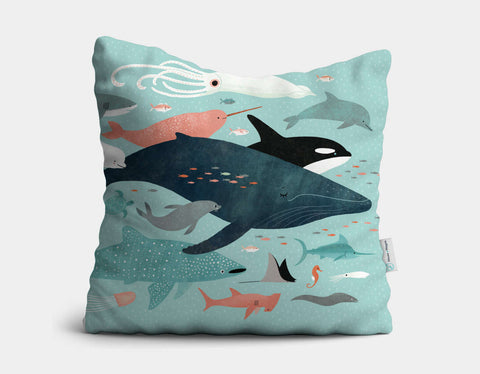 Under the Sea Menagerie Throw Pillow by Emily Dove - Main