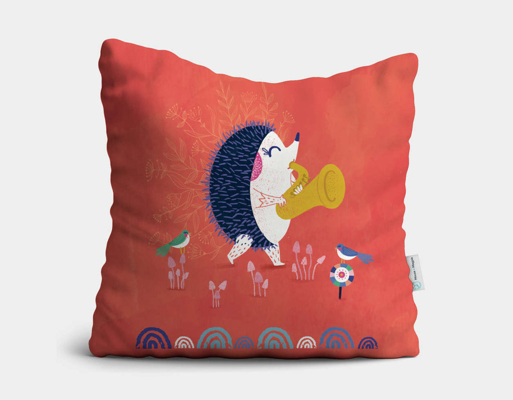 The Solist Throw Pillow by Antoana Oreski - Main
