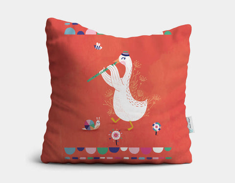 Flute Dream Throw Pillow by Antoana Oreski - Main