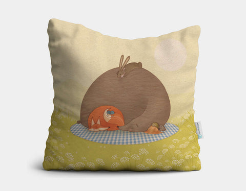 Naptime for All Throw Pillow by Alexandra Ball - Main