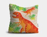 Mighty T-Rex Throw Pillow by Liza Lewis - Main