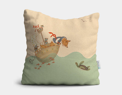 Ahoy There, Mr Turtle Throw Pillow by Alexandra Ball - Main