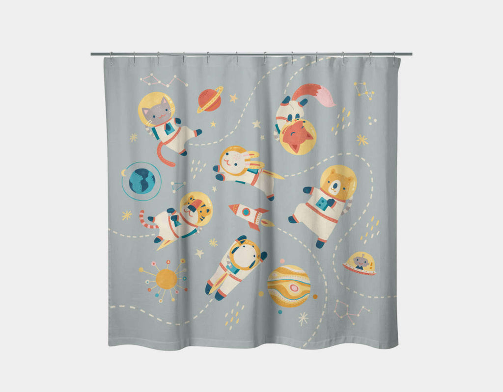 Galaxy Gathering Shower Curtain by Irene Chan - Main