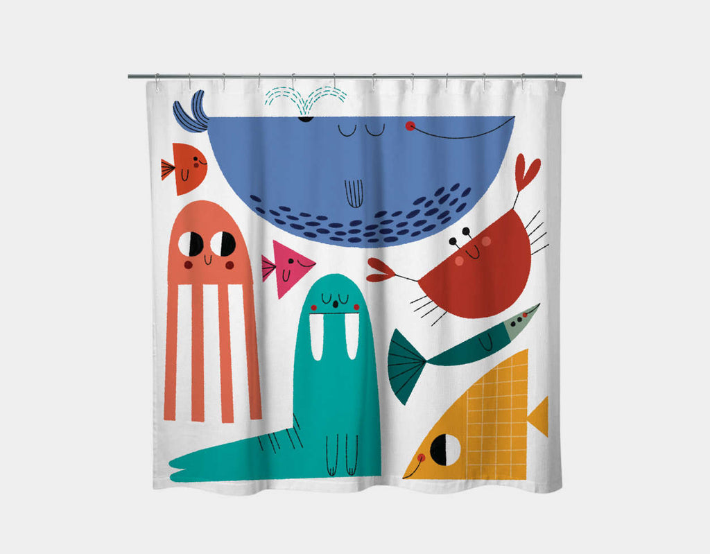 Little Sea World Shower Curtain by Teresa Bellon - Main