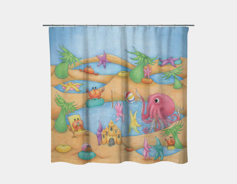 Tide Pool Party Shower Curtain by Maura Stockton Wang - Main