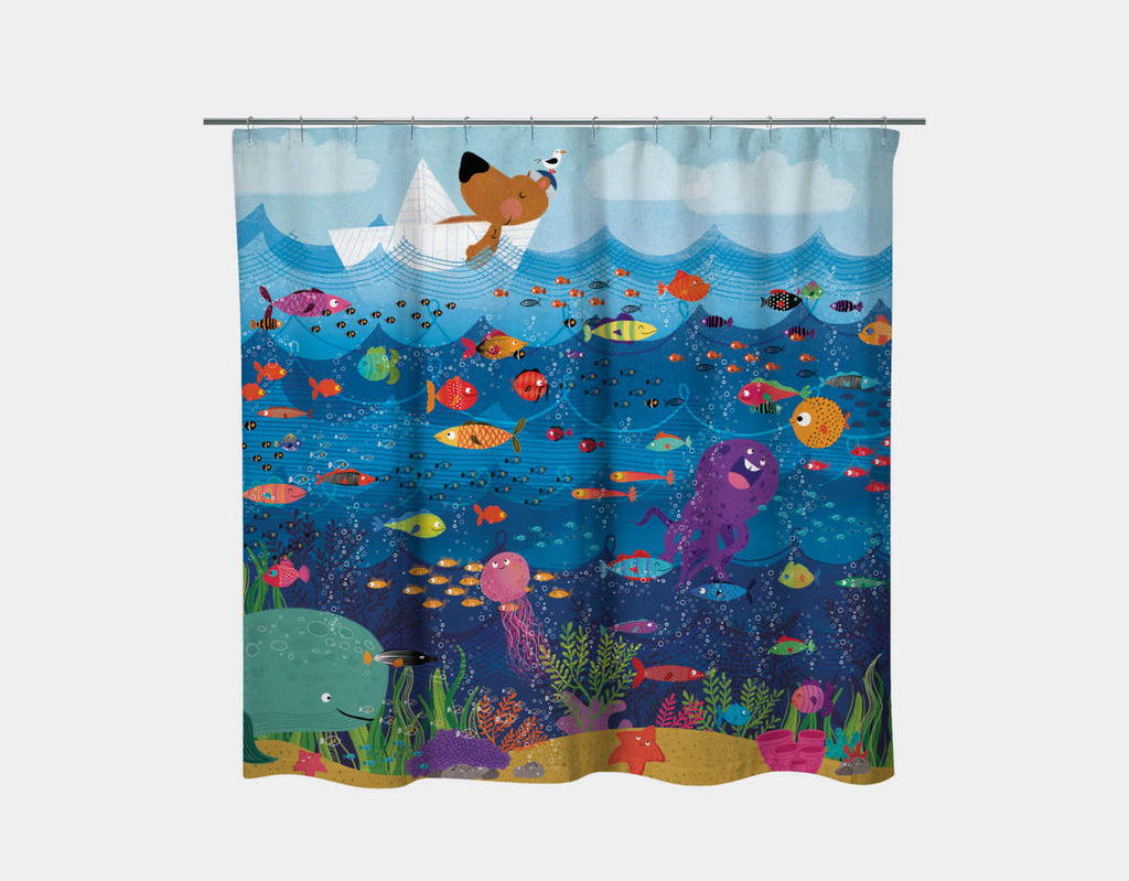A Sailor's Life Shower Curtain by Hazel Quintanilla - Main