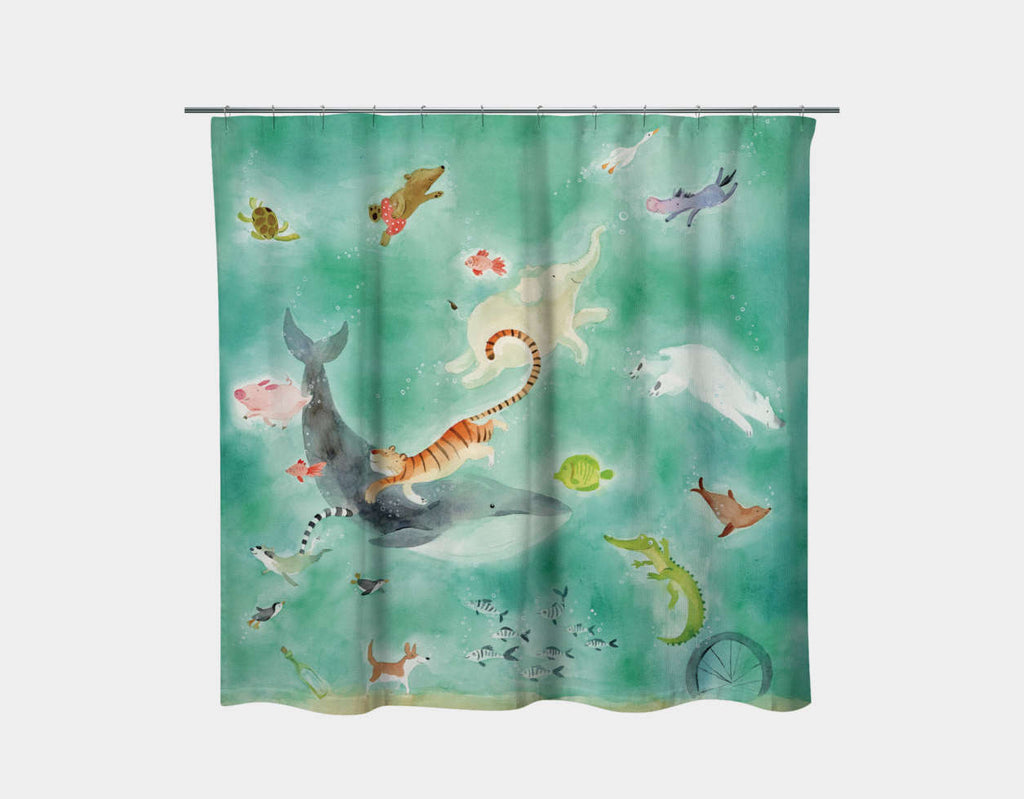 Shimmer and Shine Shower Curtain by Anna Shuttlewood - Main