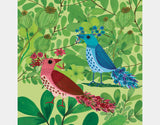 Jungle Birds In The Trees Square Framed Art by Kay Widdowson - Design
