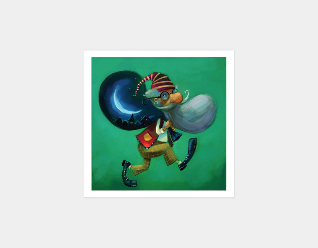 The Magical Bag Square Framed Art by Marcin Piwowarski - White