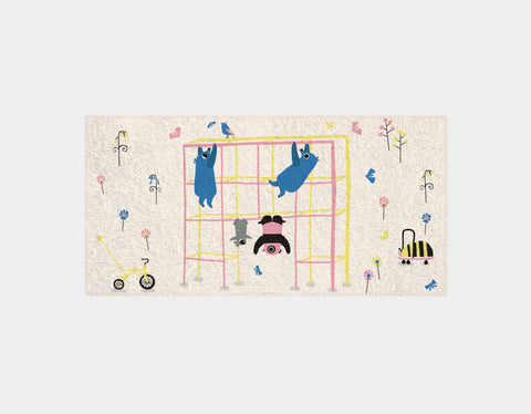 Happy Play Monkey Bars Bath Towel by Sue Downing - Main