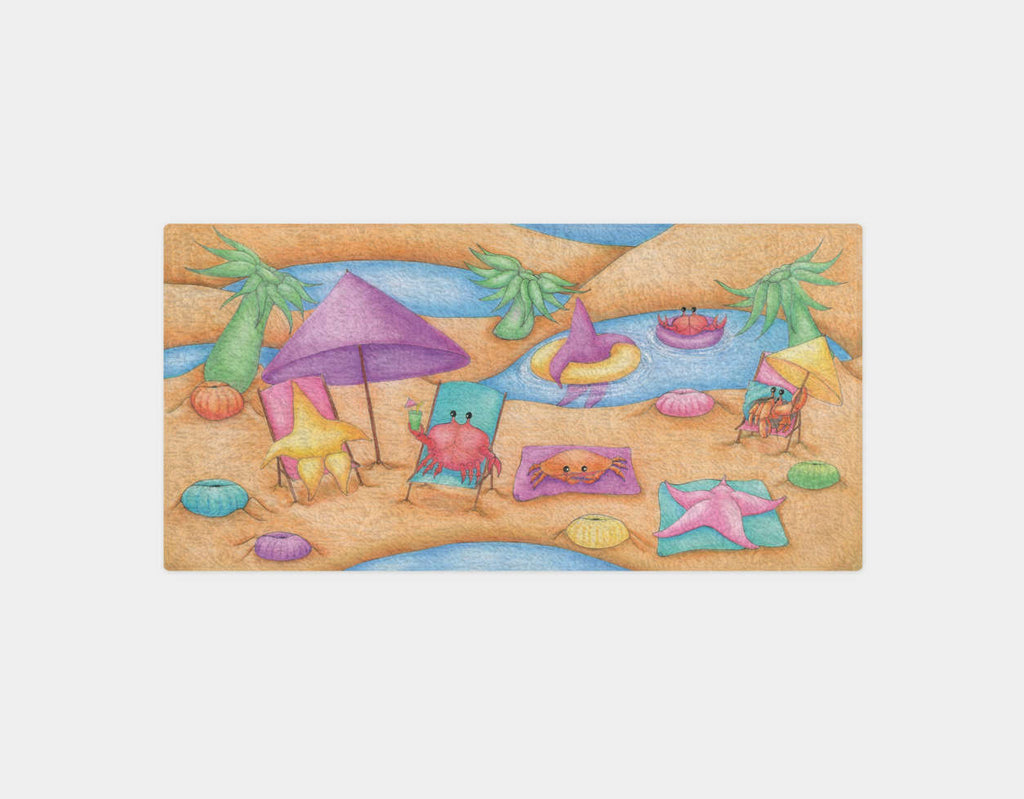 Lounging at the Tide Pool Party Bath Towel by Maura Stockton Wang - Main