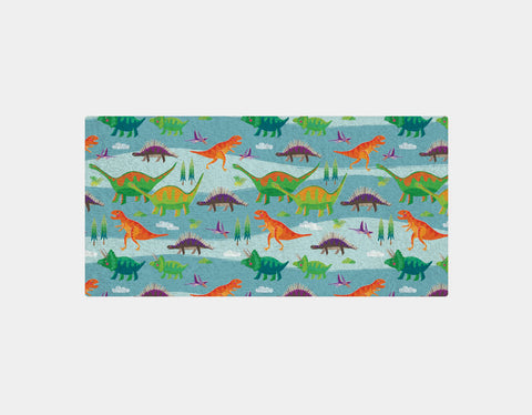 Dinosaur Land Bath Towel by Liza Lewis - Main