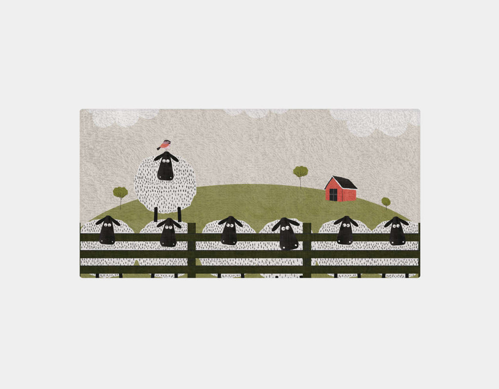 Counting Sheep Bath Towel by Mel Armstrong - Main