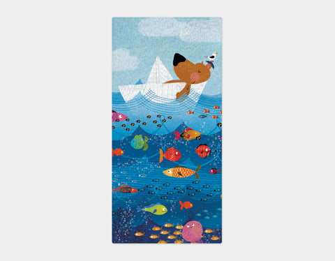 A Sailor's Life Bath Towel by Hazel Quintanilla - Main