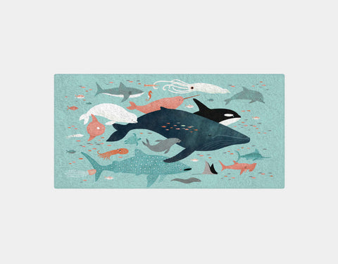 Under the Sea Menagerie Bath Towel by Emily Dove - Main