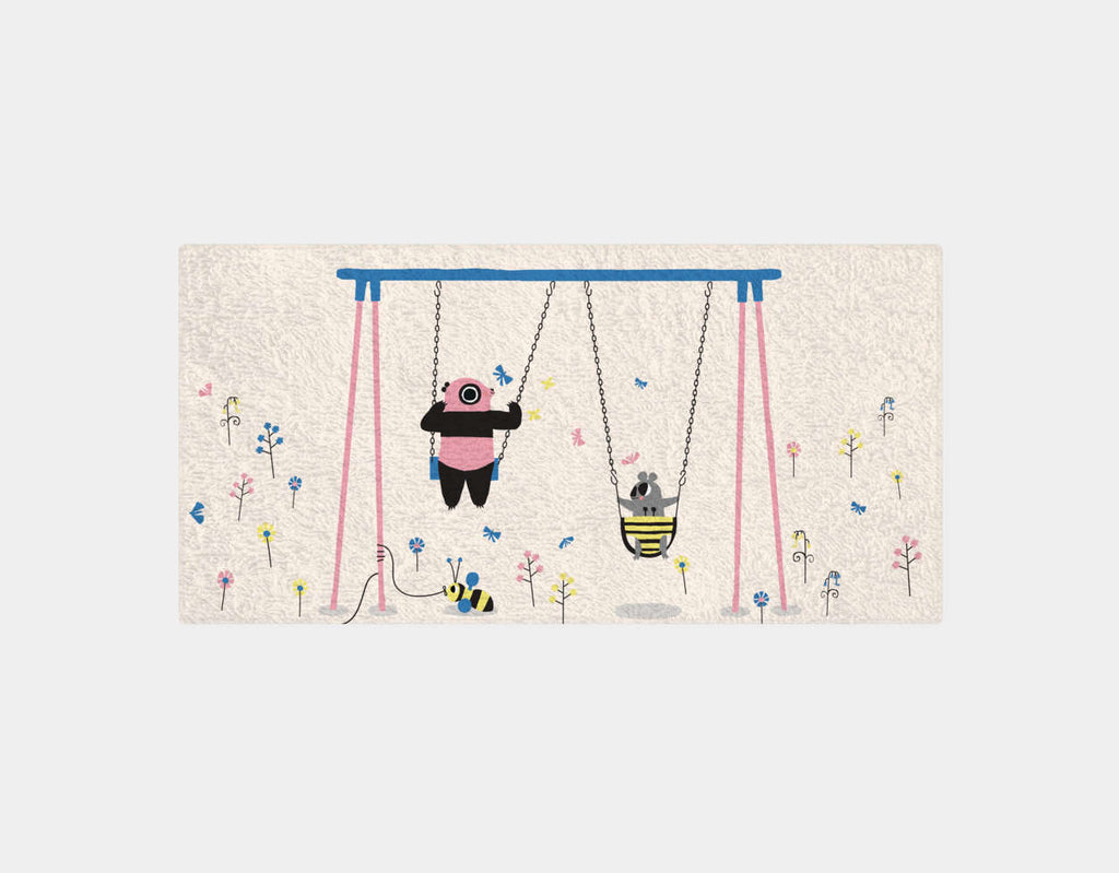 Happy Play Swings Bath Towel by Sue Downing - Main