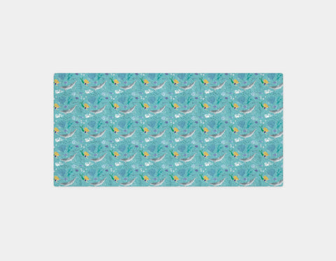 Mermaid Greeting Bath Towel by Katie Rewse - Main