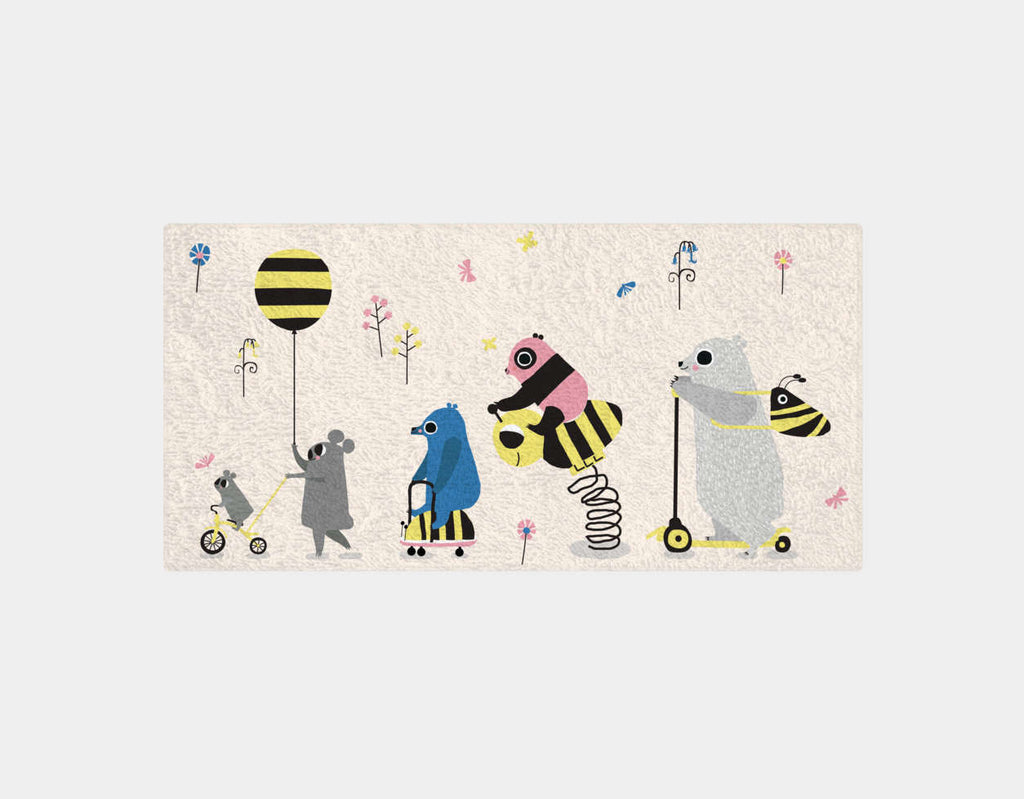 Happy Play Parade Bath Towel by Sue Downing - Main