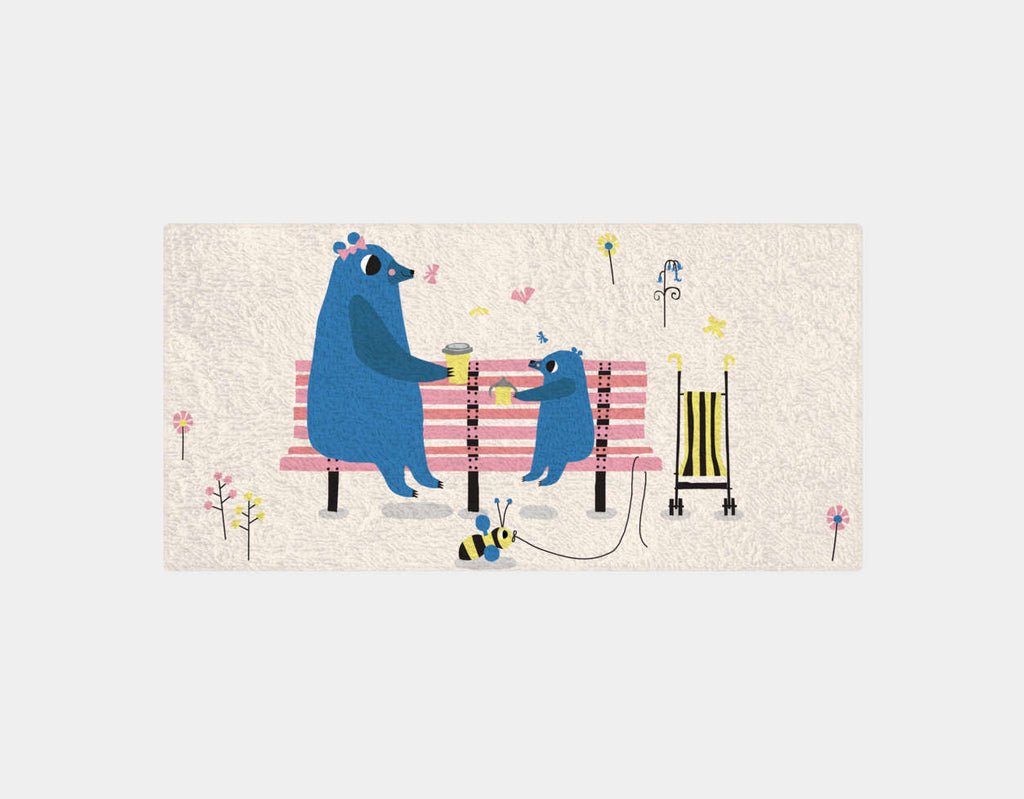 Happy Play Snack Time with Mummy Bath Towel by Sue Downing - Main