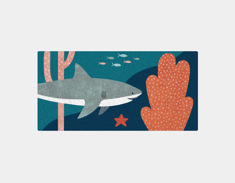 Silly Sharks Bath Towel by Emily Dove - Main