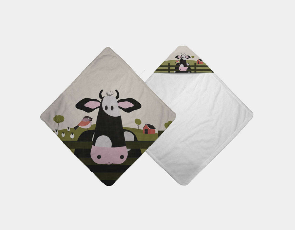 Caley the Cow Hooded Towel by Mel Armstrong - Main