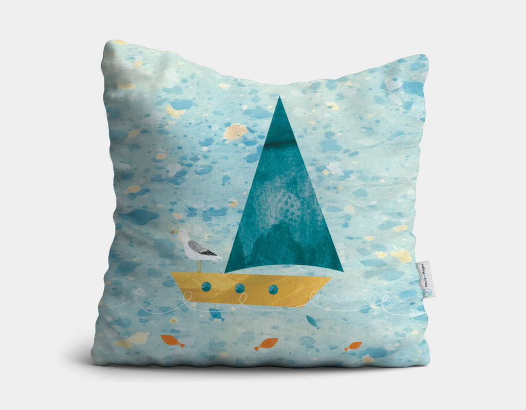Set Sail Throw Pillow by Christopher Lyles - Main