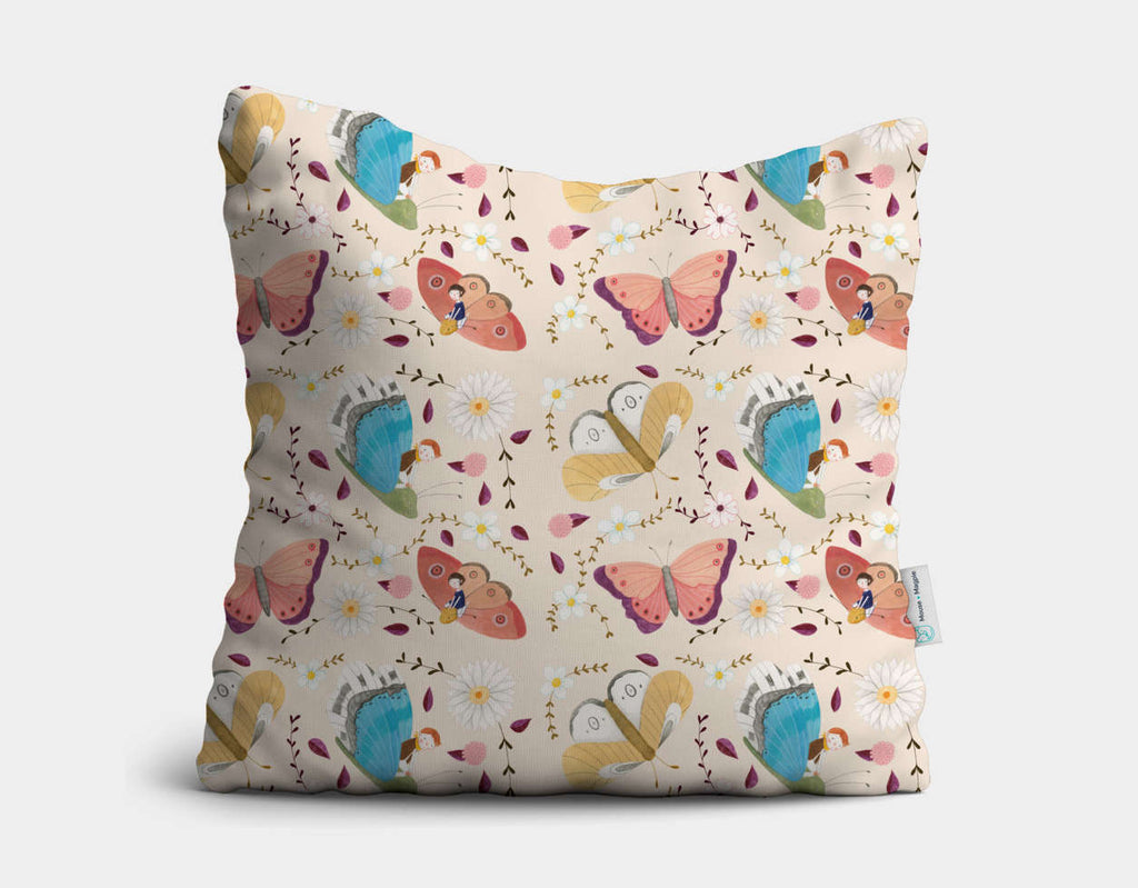 Shining Butterflies Throw Pillow by Judith Loske - Main
