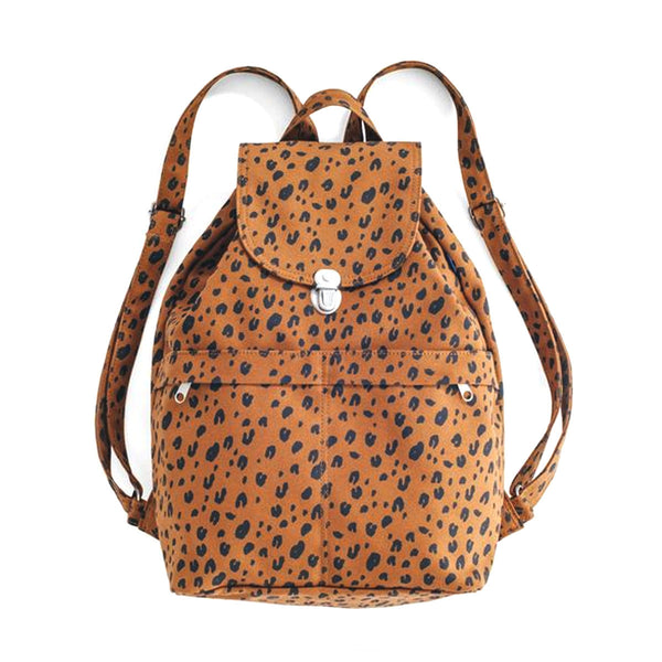 Canvas Backpack | Leopard