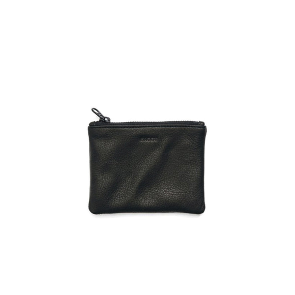 Small Flat Wallet | Black Leather