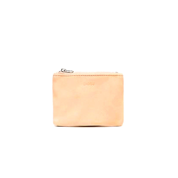 Small Flat Wallet | Pink Leather