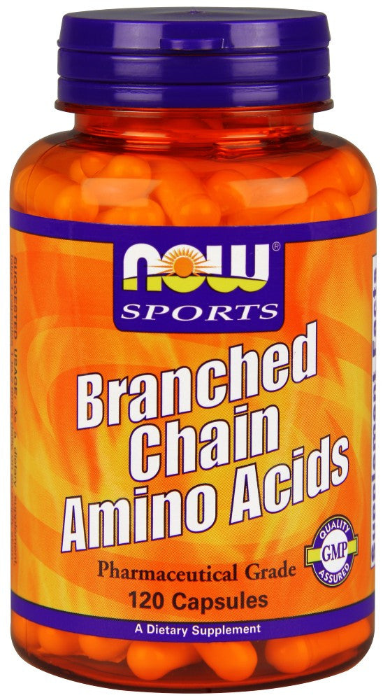 NOW Branched Chain Amino Acids - 120 Capsules