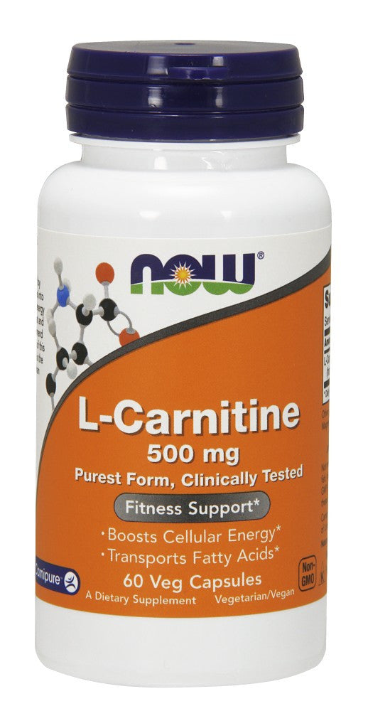 NOW L-Carnitine 500 mg - 60 Vegetarian Capsules