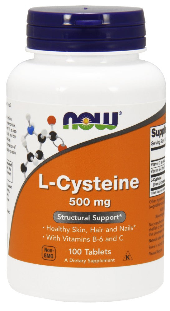 NOW L-Cysteine 500 mg - 100 Tablets
