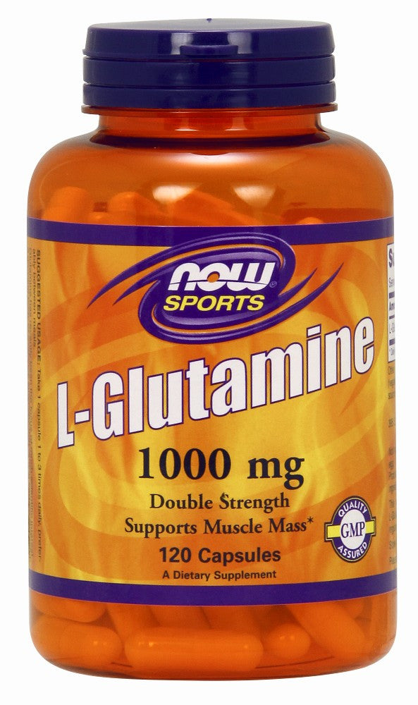 NOW L-Glutamine 1000 mg - 120 Capsules