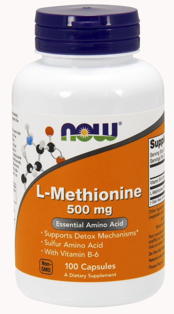 NOW L-Methionine 500 mg - 100 Capsules