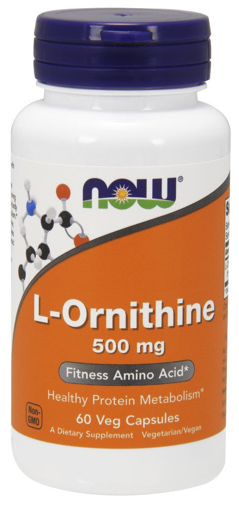 NOW L-Ornithine 500 mg - 60 Capsules